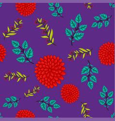 Seamless floral leaf pattern background vector