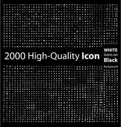 Set 2000 quality icon vector
