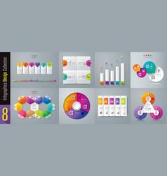 Set infographics design vector