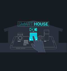 Smart house technology concept vector