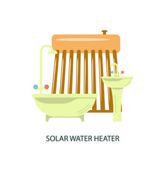 Solar water heater vector