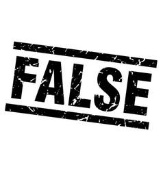 Square grunge black false stamp vector