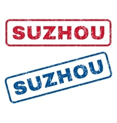 Suzhou Rubber Stamps vector image