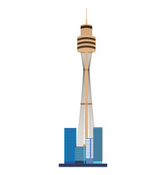 Sydney tower landmark australia vector