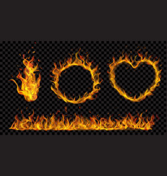 symbols made of fire flame vector image