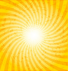 Textured spiral sunray background vector
