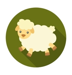 Toy sheep icon in flat style isolated on white vector