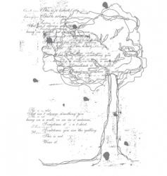 tree of words vector image