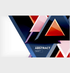 triangles repetiton geometric abstract background vector image