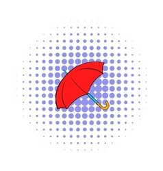 Umbrella icon pop-art style vector