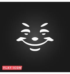 Universal smiling icon vector image