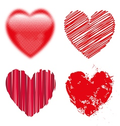 Valentine day doodle hearts vector