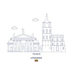Vilnius city skyline vector