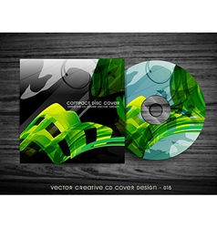 Wave style cd cover vector