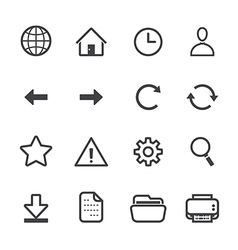 Website and Toolbar Icons vector image