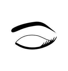 Woman eye closeup vector