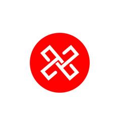 X company logo template design vector