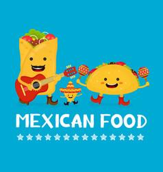 mexican food creative card concept vector image