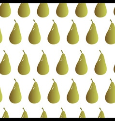 pear repeatable seamless pattern vector image vector image