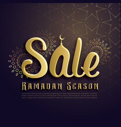 ramadan season sale poster design in islamic style vector image