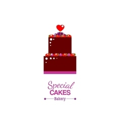 Special cake with text advertising vector image vector image
