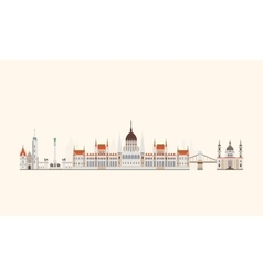 Budapest abstract skyline vector image