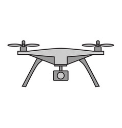 drone icon on white background vector image