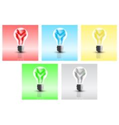 energy bulbs vector image