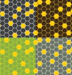 seamless honey comb pattern vector image
