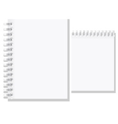 set of white blank notebook vector image vector image