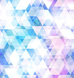 sky blue triangle seamless texture with grunge vector image vector image