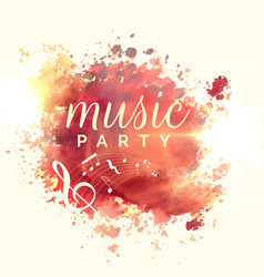 abstract music party watercolor event template vector image