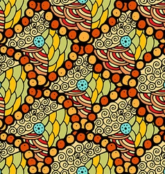 Bright Yellow Plant Patterned Background vector image