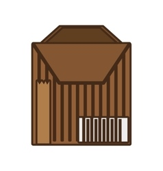 cartoon package cardboard box delivery vector image