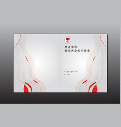 cover minimal style template vector image