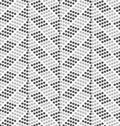 Dotted zigzag with dark and light dots vector image vector image