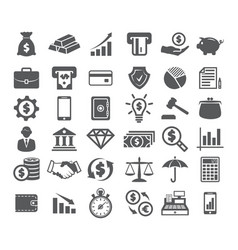 finance icons on white vector image