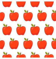 Seamless pattern with red apples vector image vector image