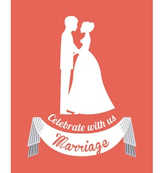 wedding design vector image vector image