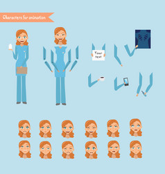 cheerful nurse vector image vector image