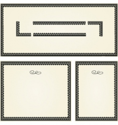 ornamental frame set vector image vector image