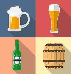 Set of beer icon vector image
