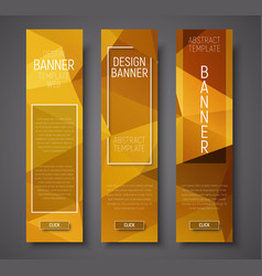 web banners with abstract polygonal background vector image vector image