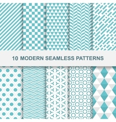 10 Modern seamless geometric patterns vector