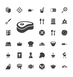 33 cook icons vector