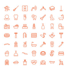 49 hygiene icons vector image