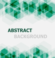 Abstract green hexagon overlapping background vector