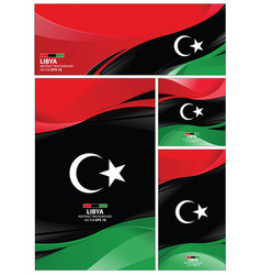 Abstract libya flag background vector