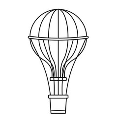 aerostat balloon icon outline style vector image