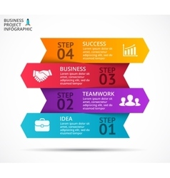 Arrows infographic diagram graph vector
